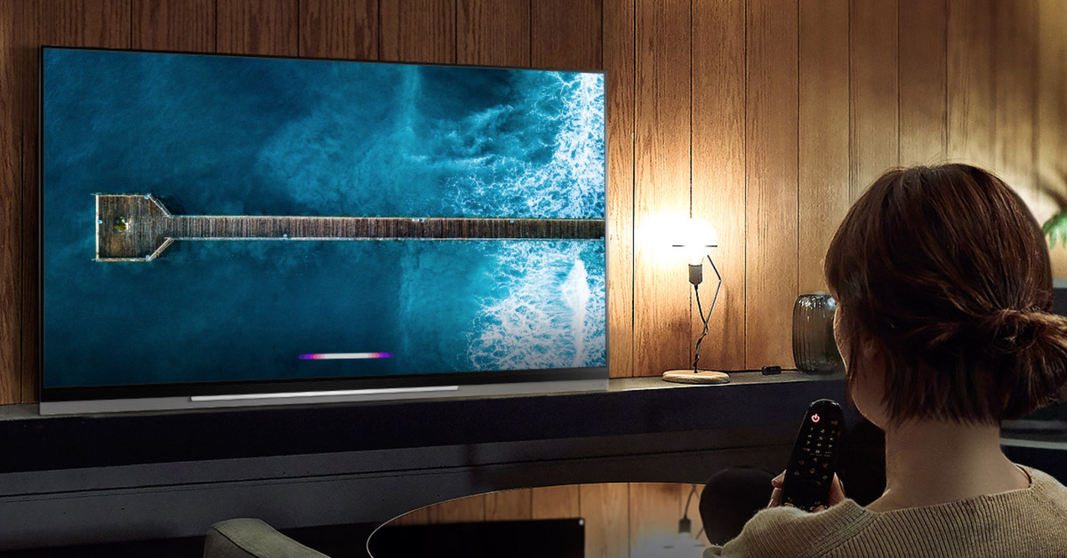 photo image LG's 2019 OLED TV lineup with AirPlay 2 will hit stores starting in April