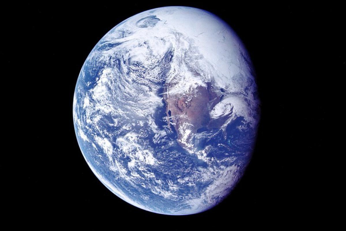 view of Earth during translunar coast