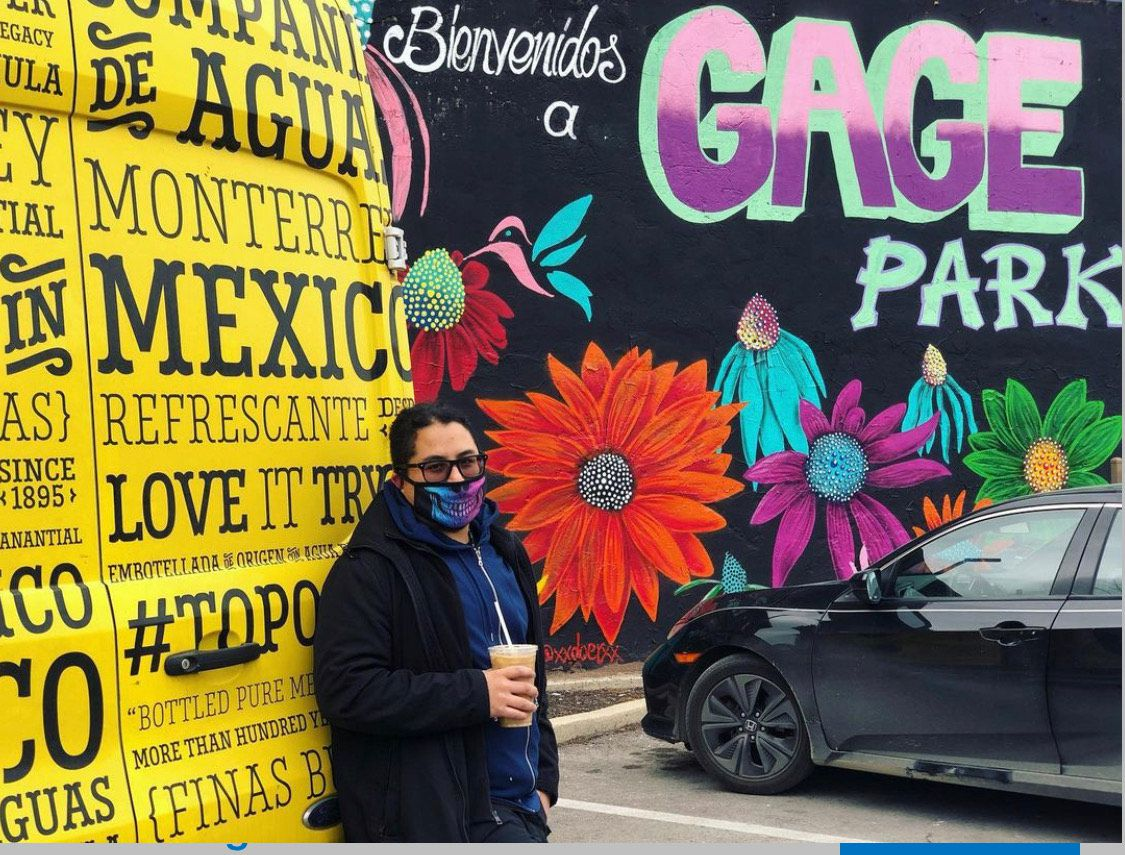 Artist Mario Mena, head of the Gage Park Mural Project.