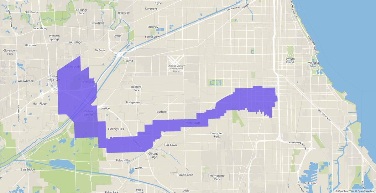 Illinois House 31st District map.