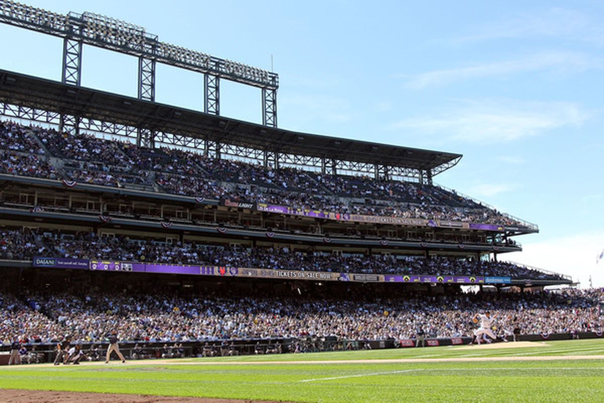 Since there were no real highlights of last night's game, enjoy this nice photo of Coors Field.