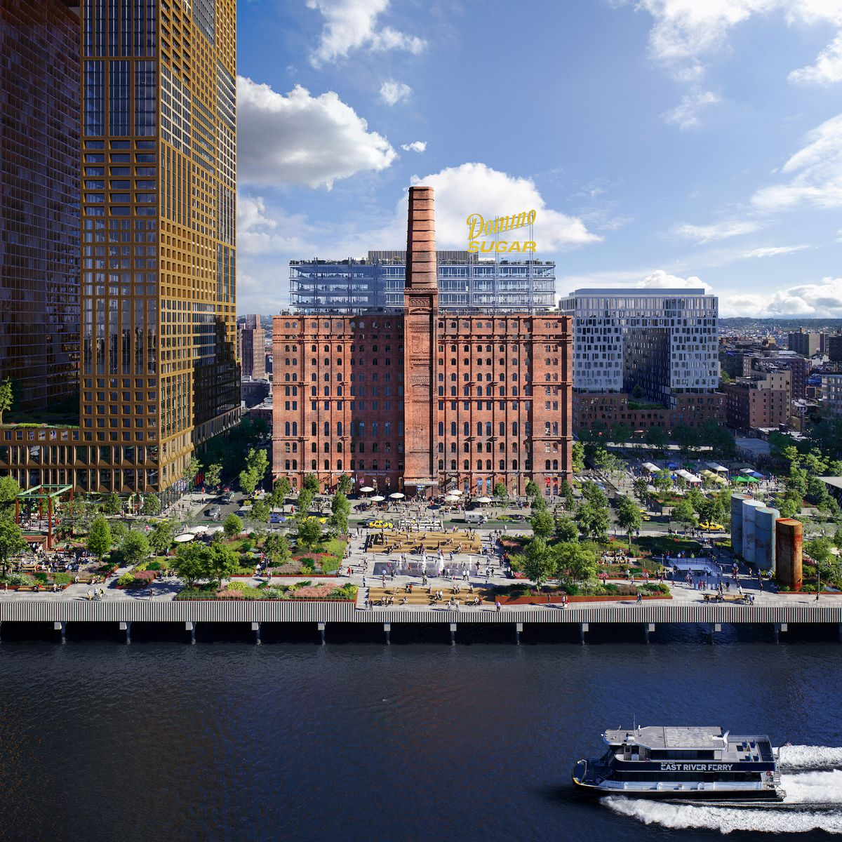 Affordable Apartments Brooklyn New York: Domino Redevelopment's Massive Waterfront Park Will Open