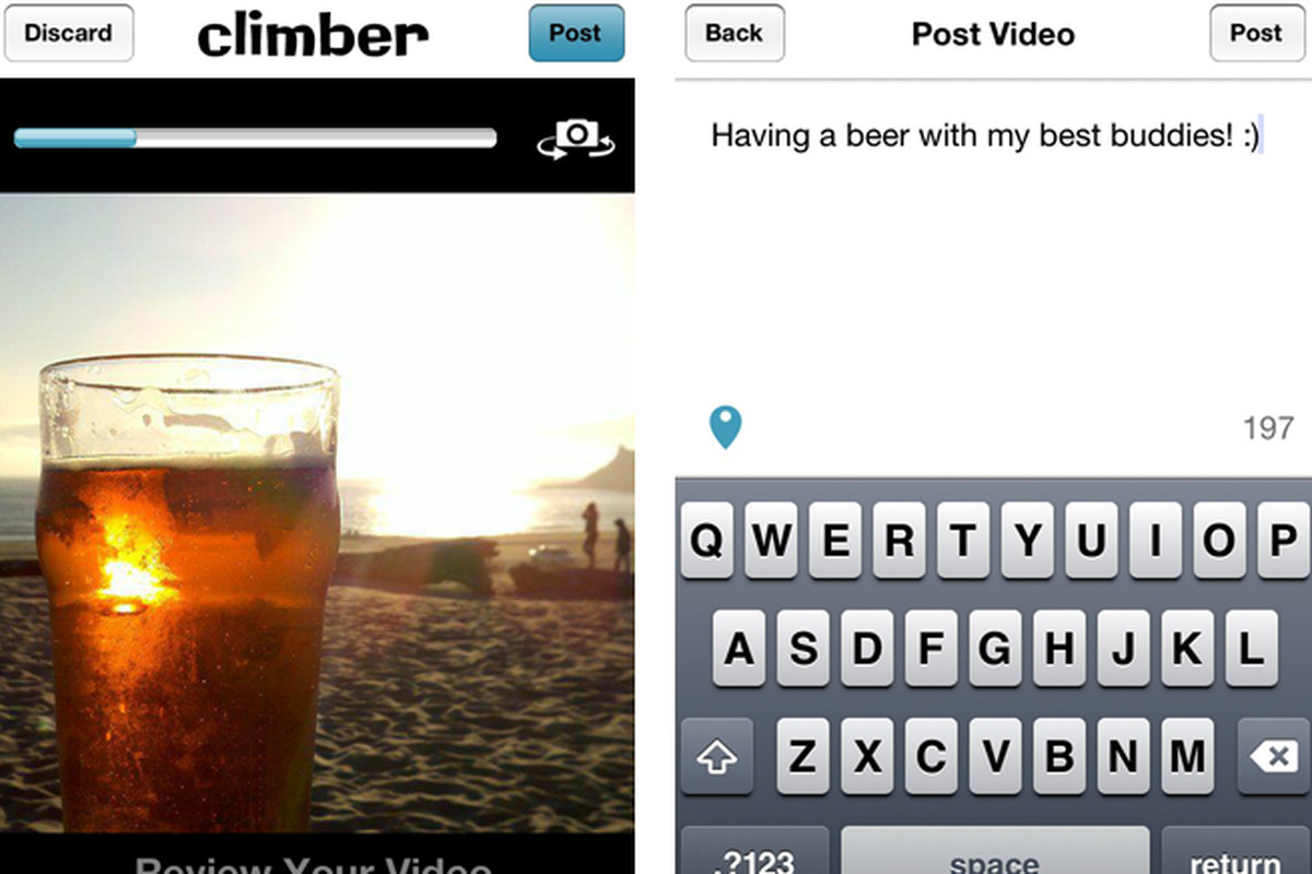 Climber iOS app