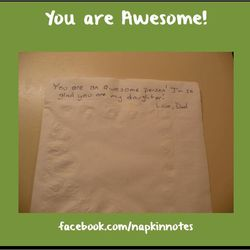 Garth Callaghan has included napkin notes in his daughter's lunches for nine years.