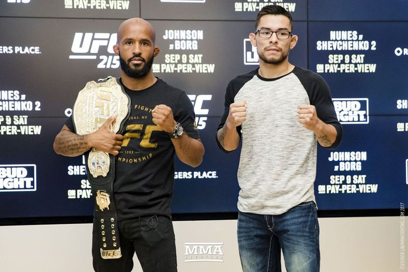 community news, Report: Demetrious Johnson vs Ray Borg rescheduled for UFC 216 on Oct. 7 in Las Vegas