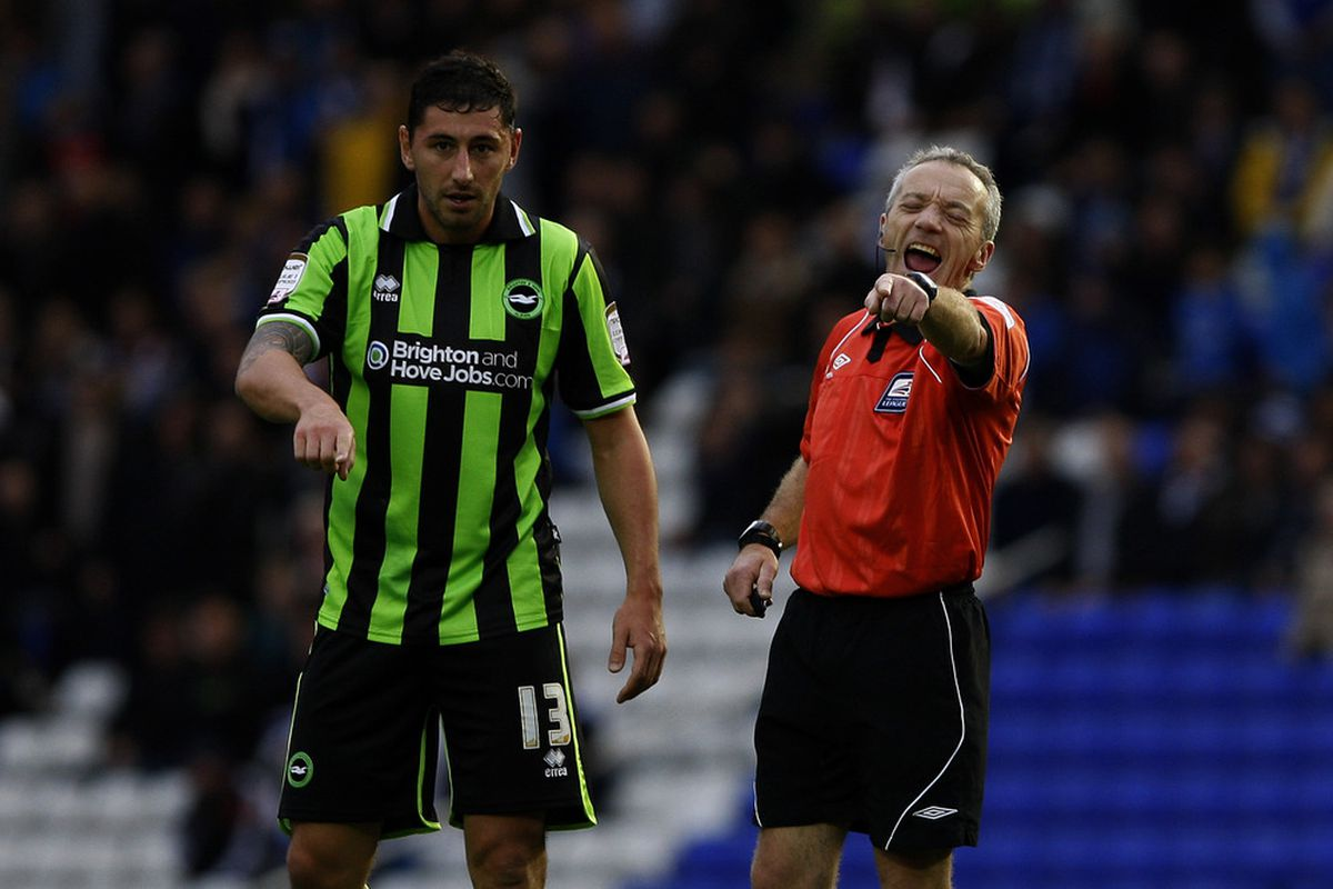 Even the referee's used to laugh at Paynter's shots back during his Brighton spell earlier this season. (Photo by Dan Istitene/Getty Images)