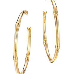 These John Hardy earrings a little more subtle, but still large enough to make a statement.