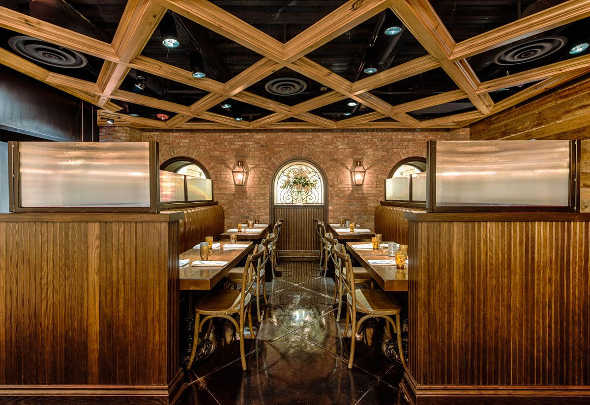 Peek inside the bold new succotash chef edward lee s for Reclaimed wood dc