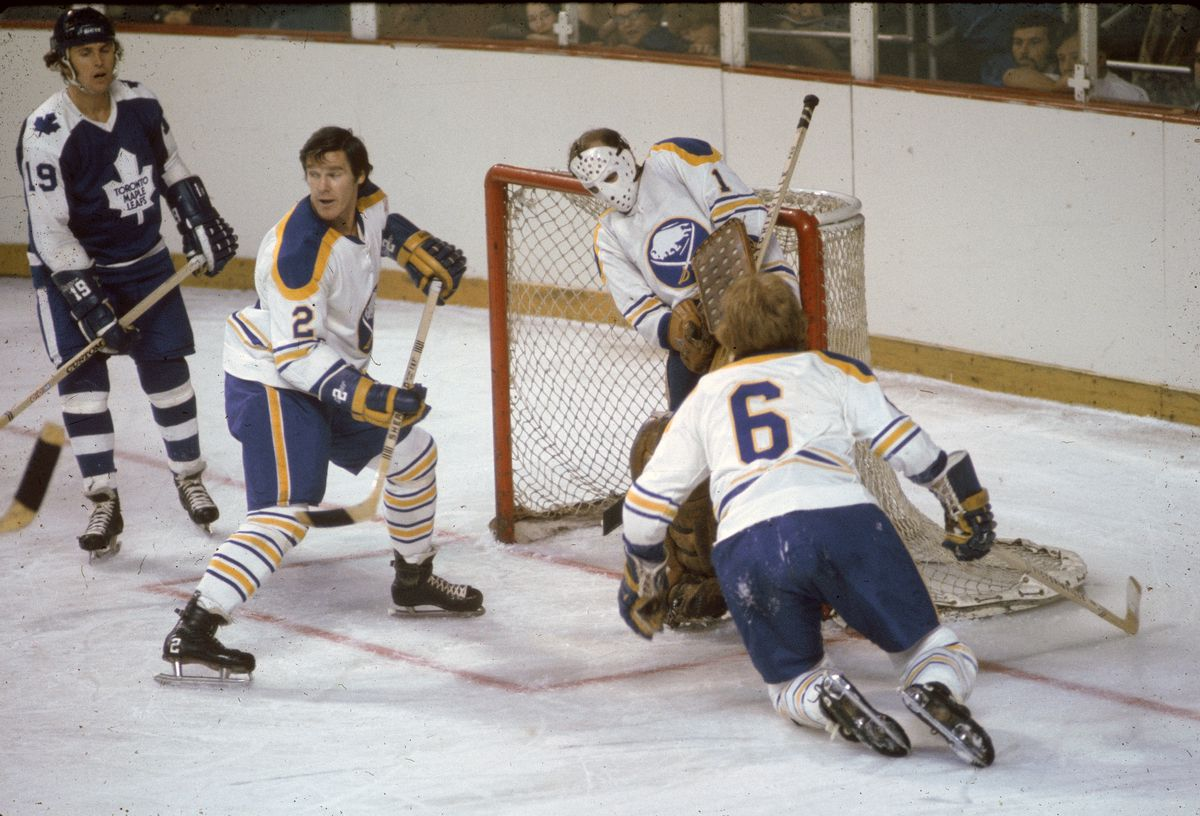 Sabres Defend Their Net Against The Leafs