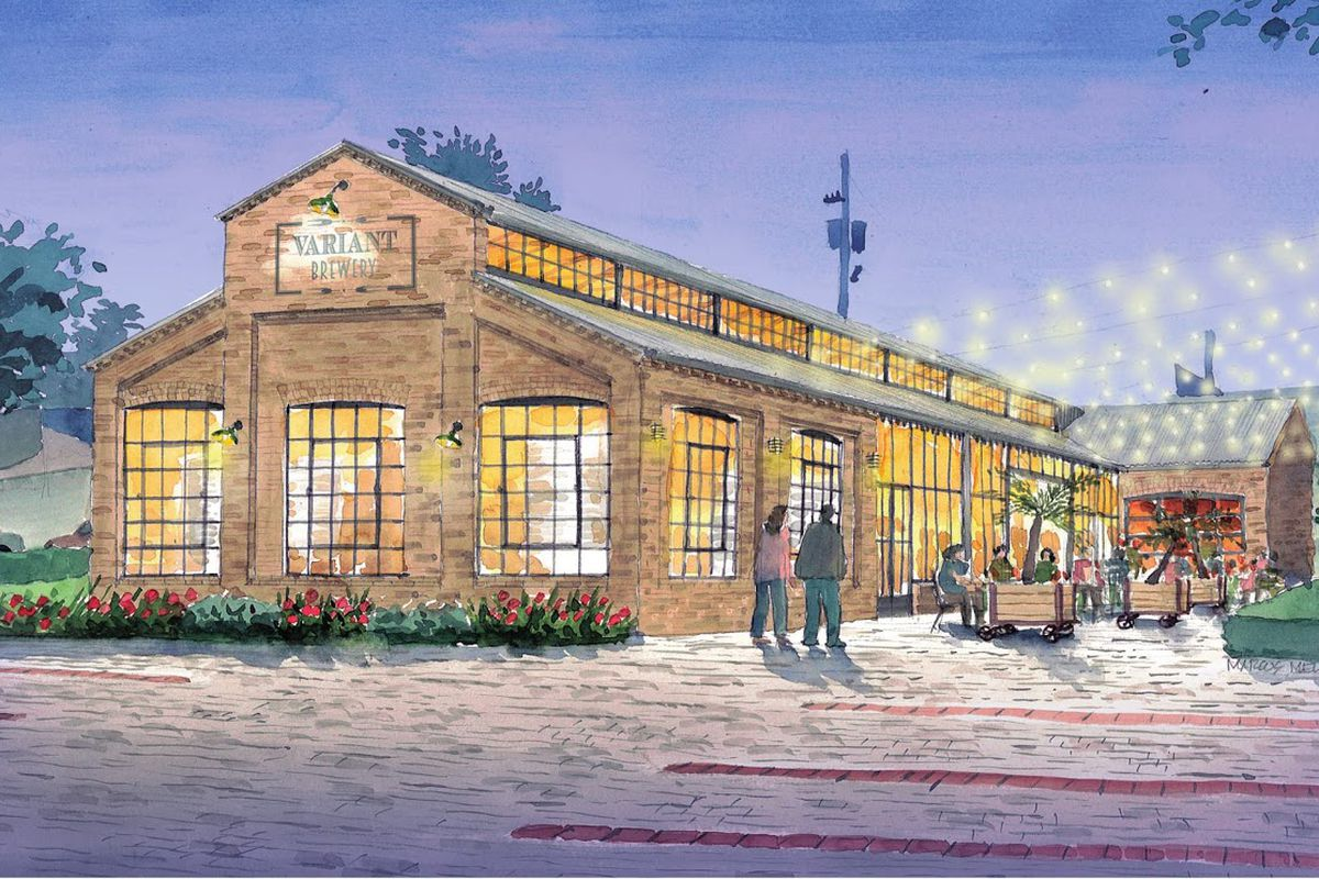 A rendering of Variant Brewing Company in Roswell, GA.