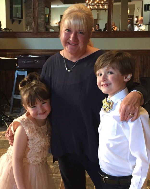 Mary Burke-Griffin with her children, Bridget and Marty.   Supplied photo