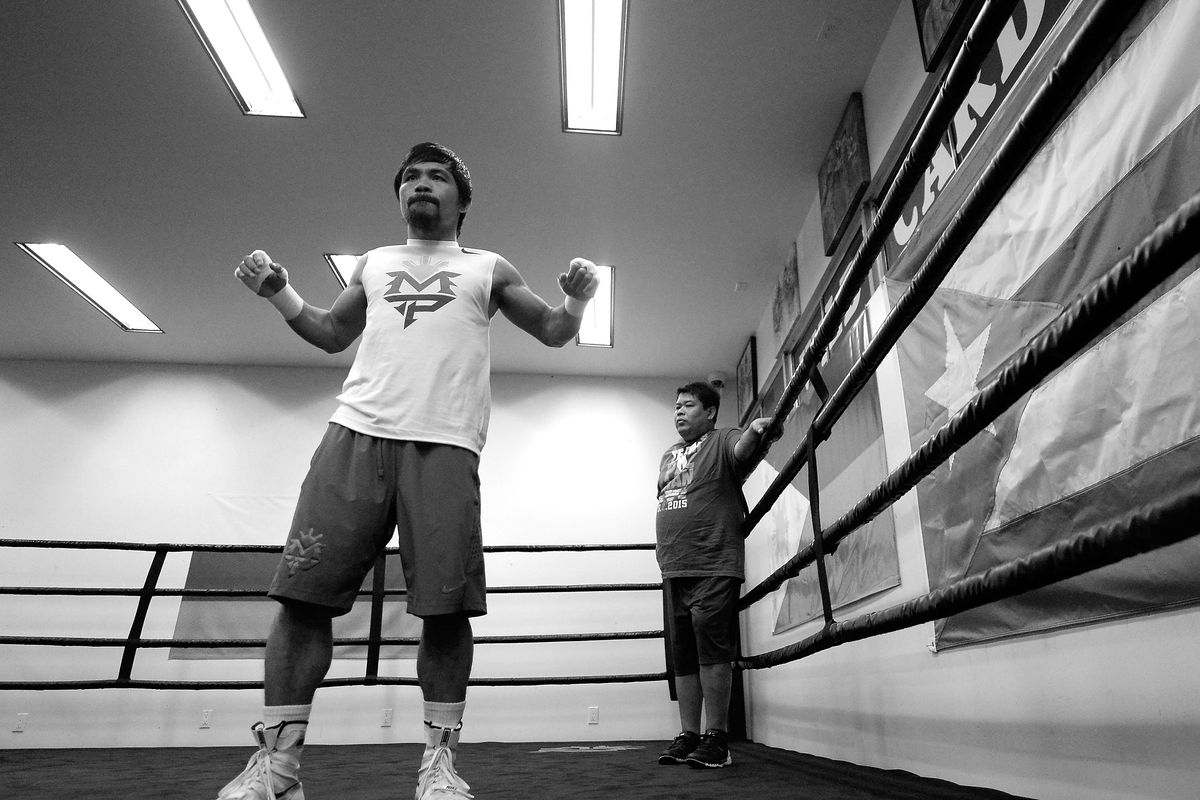 Manny Pacquiao preps for his May 2 fight