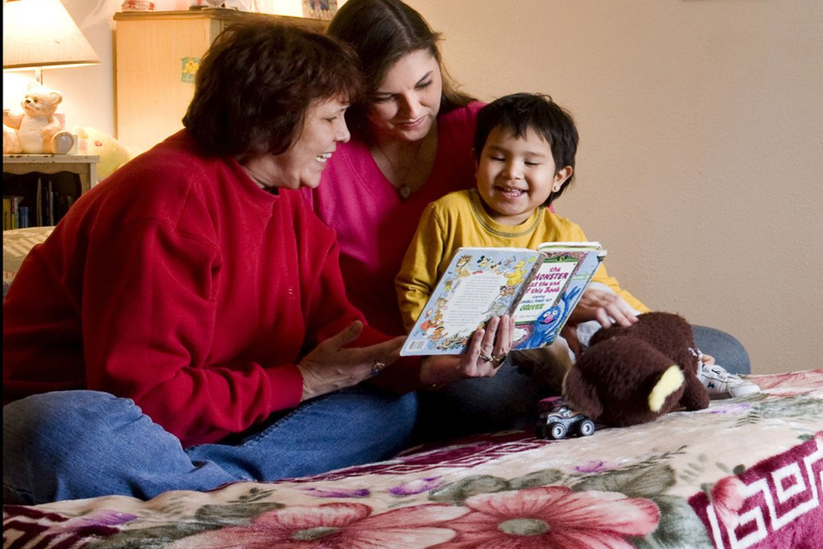 A family in a domestic violence shelter in Mobridge, South Dakota.