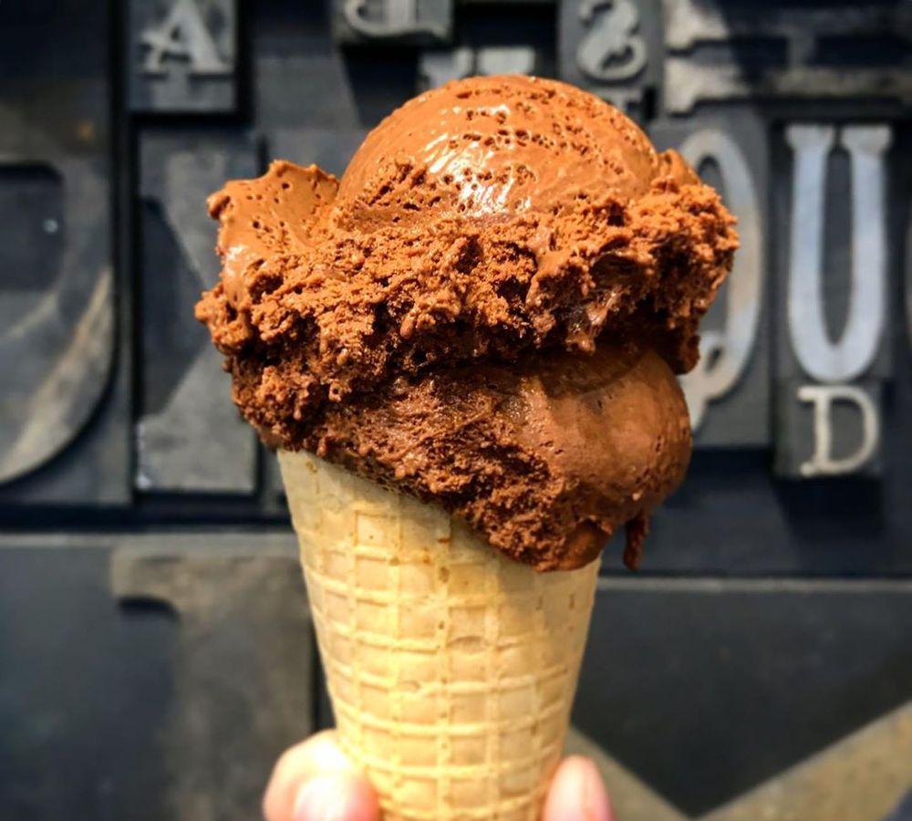 Chocolate ice cream at LetterPress Chocolate.