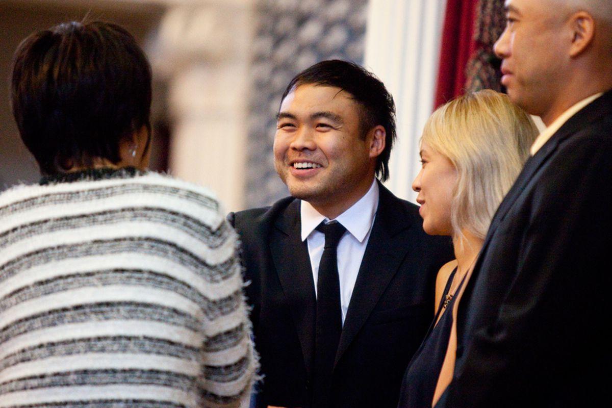 Top Chef winner Paul Qui is honored by legislators in Austin.