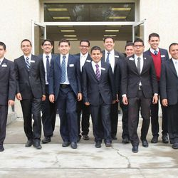 A group of Mexican-born missionaries report for training at the new Mexico City Misssion Training Center.