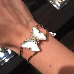 Butterfly cuff bracelet, $75