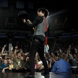 Billie Joe Armstrong of Green Day performs at EnergySolutions Arena in Salt Lake City Sunday.