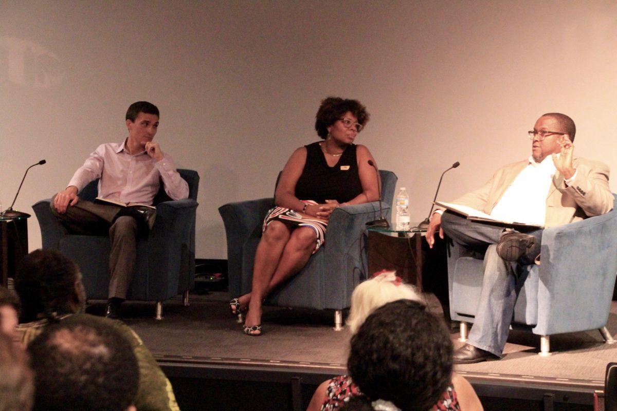 Panelists from left to right: Daniel Kiel, Terri Freeman and Charles McKinney.