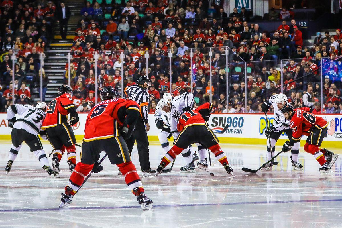 NHL: Los Angeles Kings at Calgary Flames