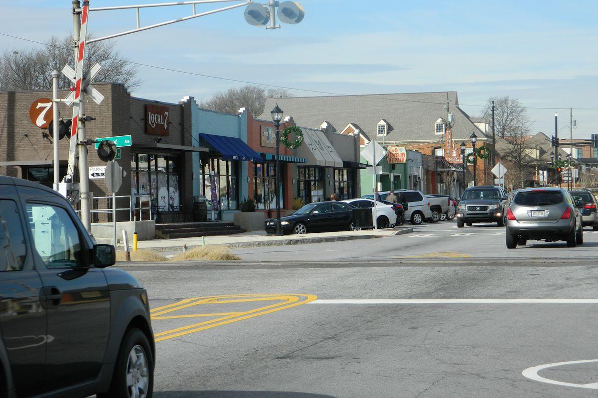 Main Street city of Tucker, Georgia
