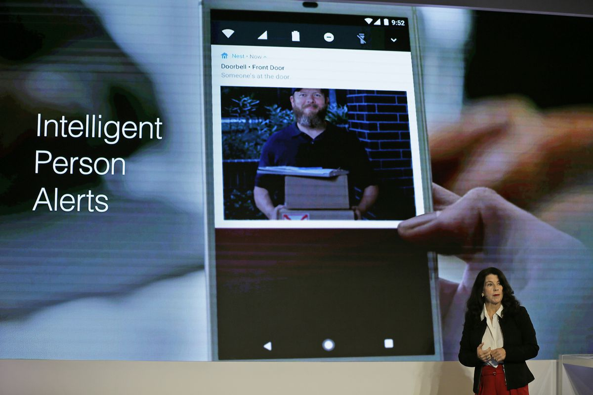 Home device maker Nest Labs is adding Google's facial recognition technology to a camera-equipped doorbell. | Eric Risberg/Associated Press
