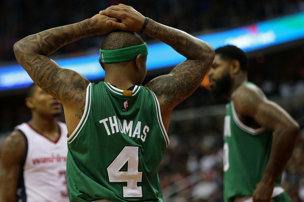 low priced ca0f5 a7dc6 Isaiah Thomas' hip injury played 'some' role in Celtics ...