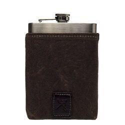 """<strong>Ernest Alexander</strong> Dean Chocolate Wax Flask Set, <a href=""""http://www.ernestalexander.com/accessories/flask-sets/dean-chocolate-wax-flask-set"""">$50</a>"""