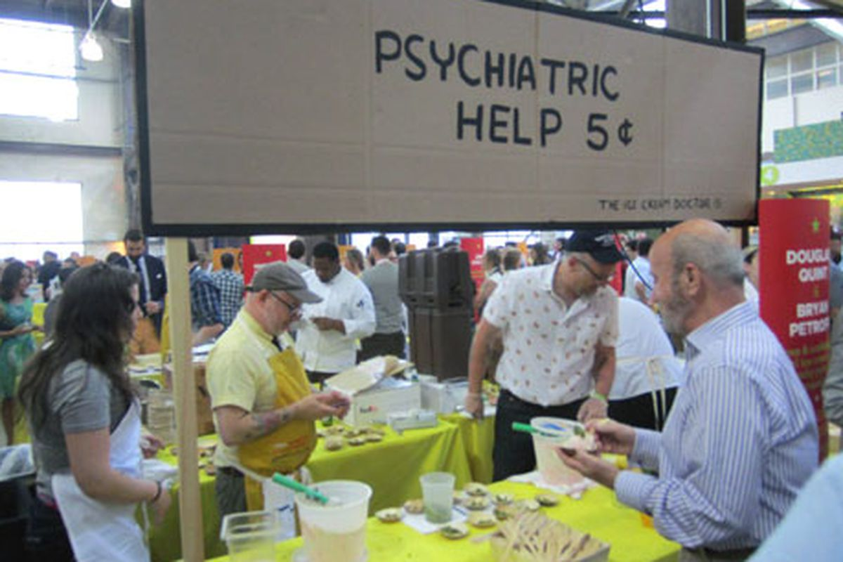Owners Douglas Quint and Bryan Petroff manning their table at last night's Great Chefs Event.