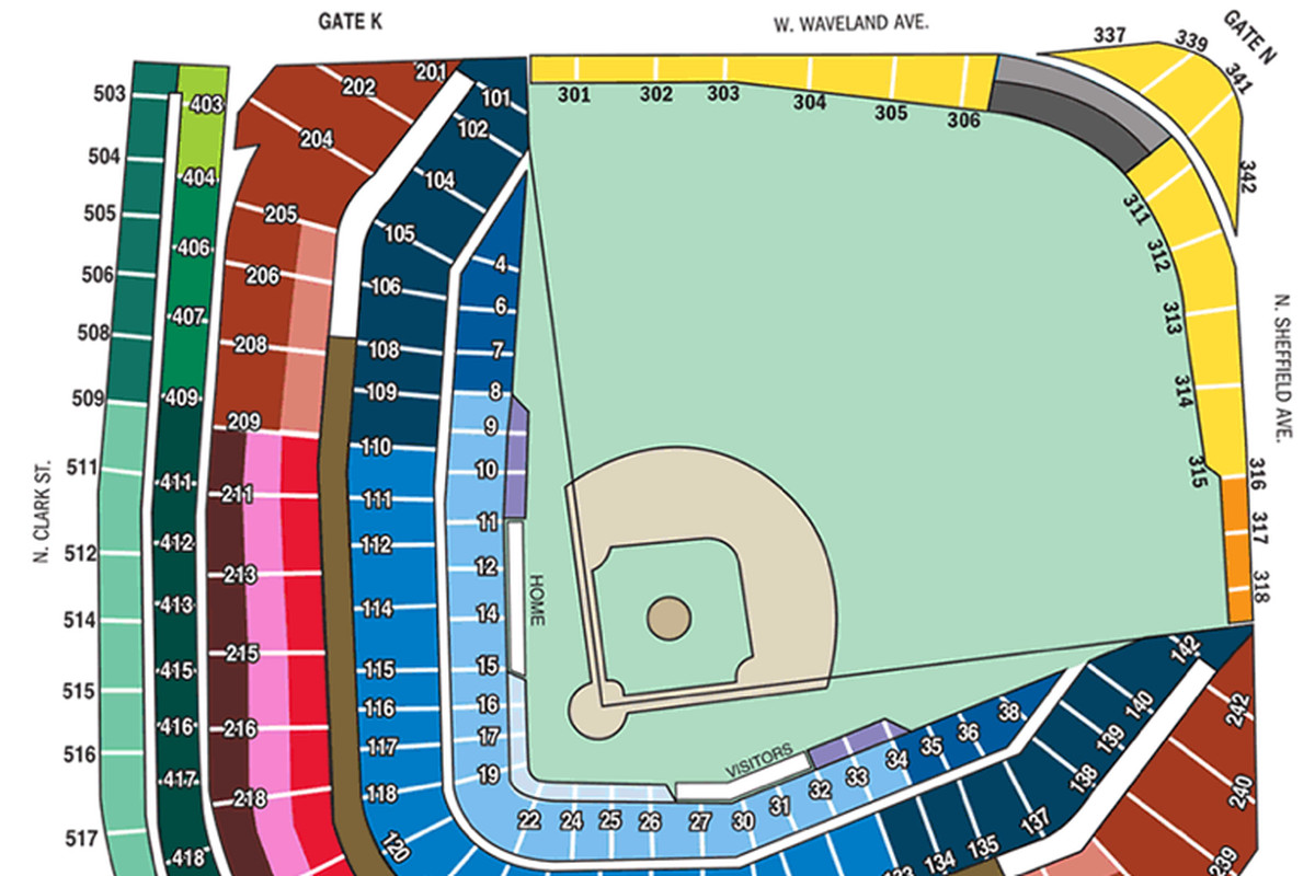 cubs seating chart: Cubs release 2015 ticket price tiers bleed cubbie blue