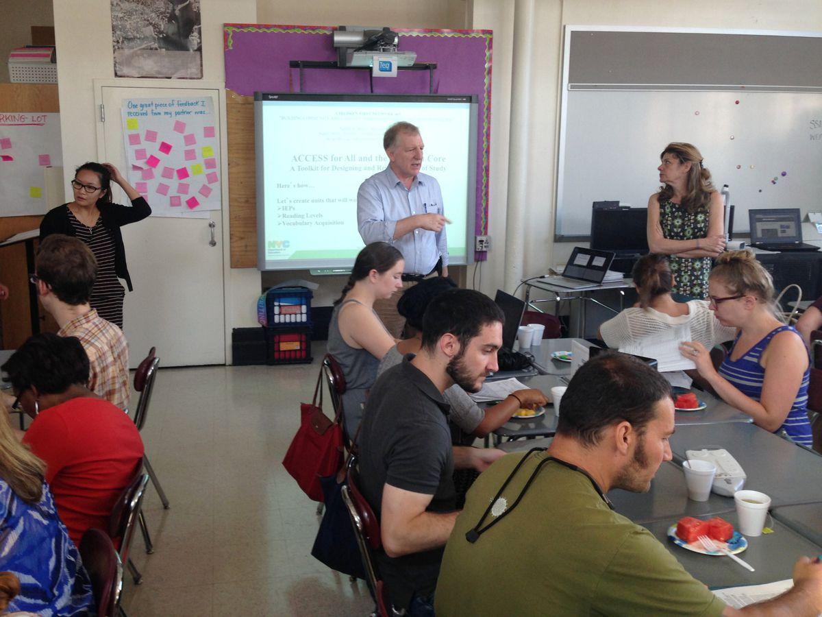 A summer teachers workshop organized by the school-support network, N403.