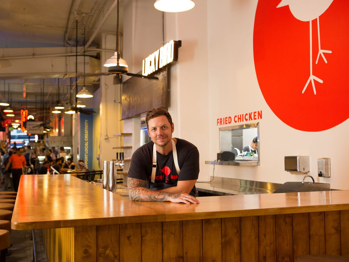 Lucky Bird chef/owner Chris Dane.
