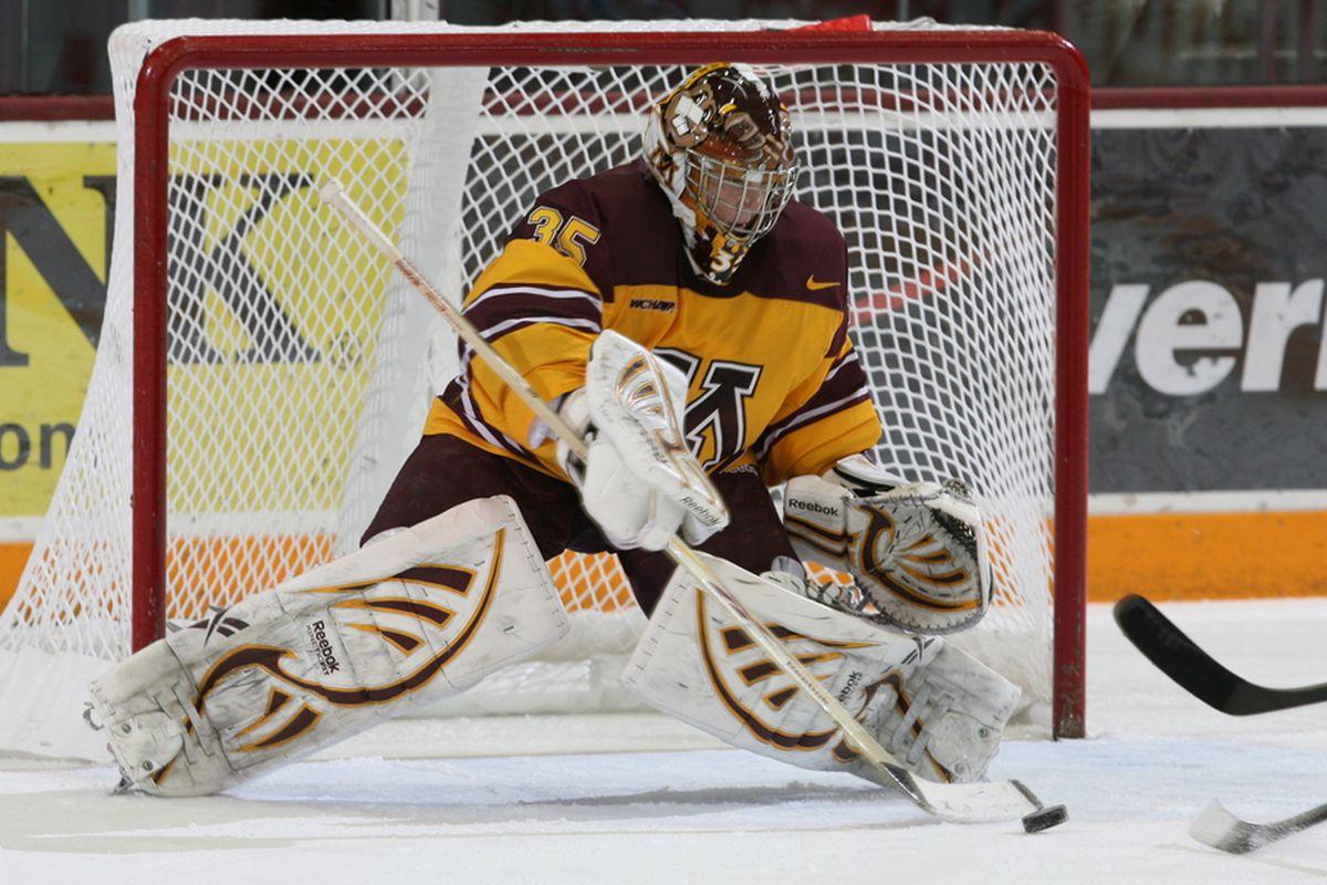 University of Minnesota Golden Gophers goalie Kent Patterson (photo courtesy of Paul Rovnak)