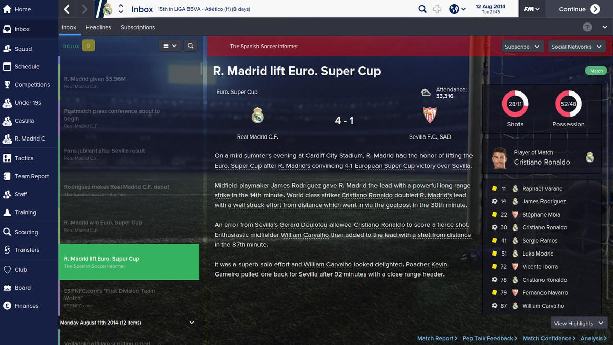 Sevilla FM win