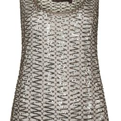 **RING DETAIL MESH VEST BY KATE MOSS FOR TOPSHOP, $290