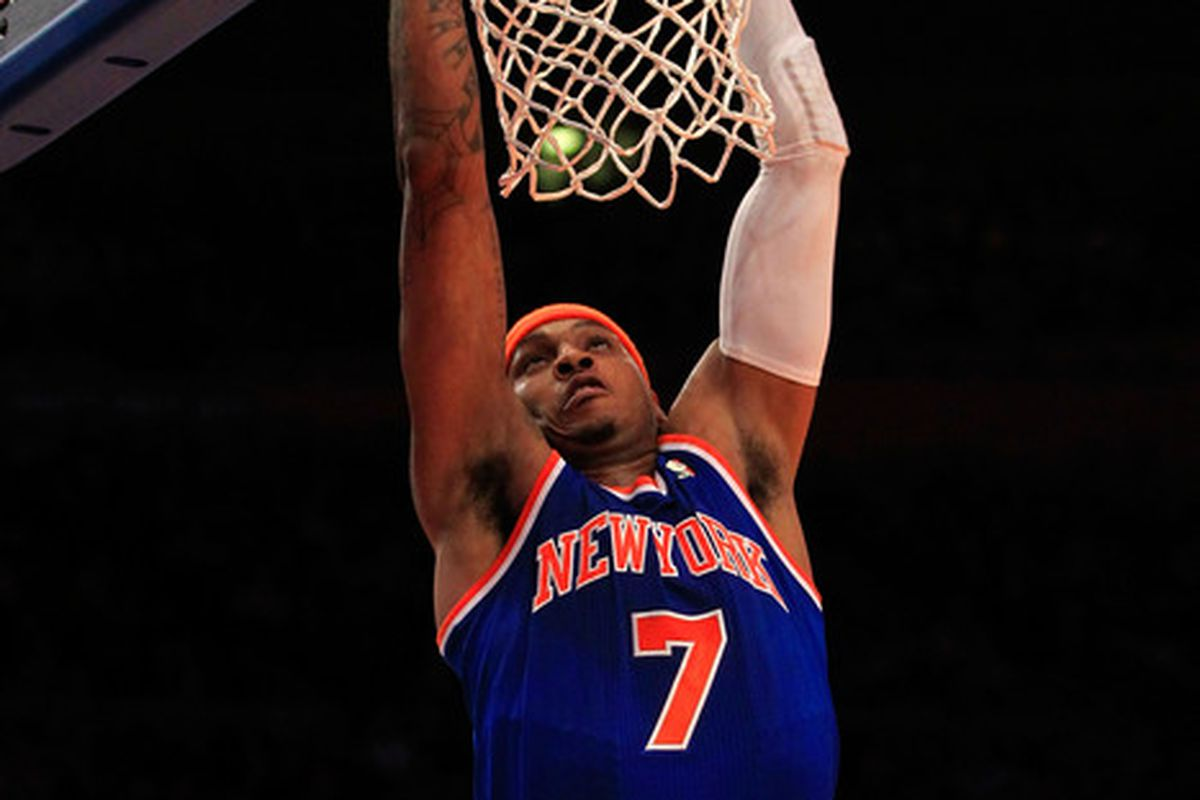 The Bucks saw too much of this from Melo.