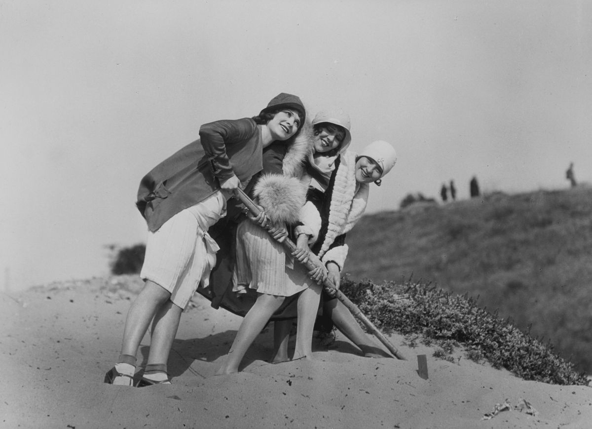 Three flappers in the summer of 1928. They probably were familiar with a summer song or two.