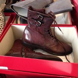 Lace-up Boots, $156