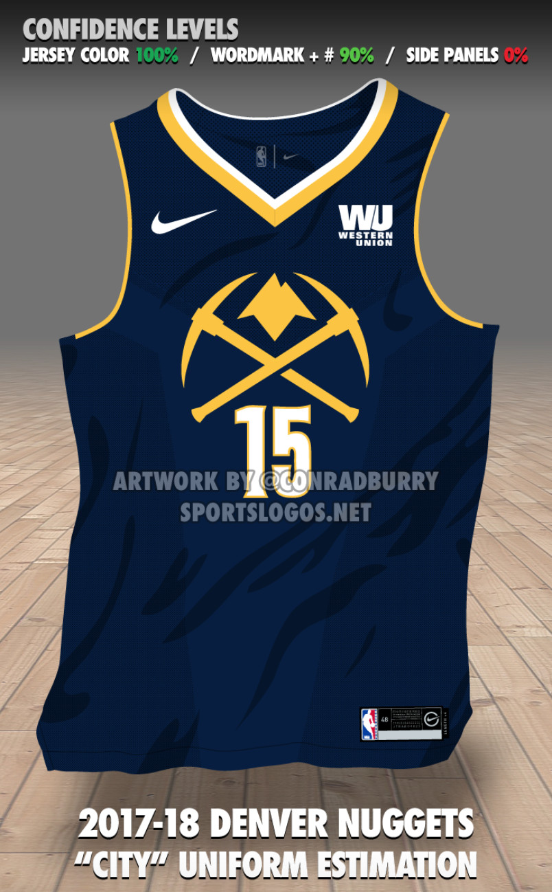 "buy online 0e93f 283a7 Denver Nuggets new Nike ""City Edition"" jerseys leaked ..."
