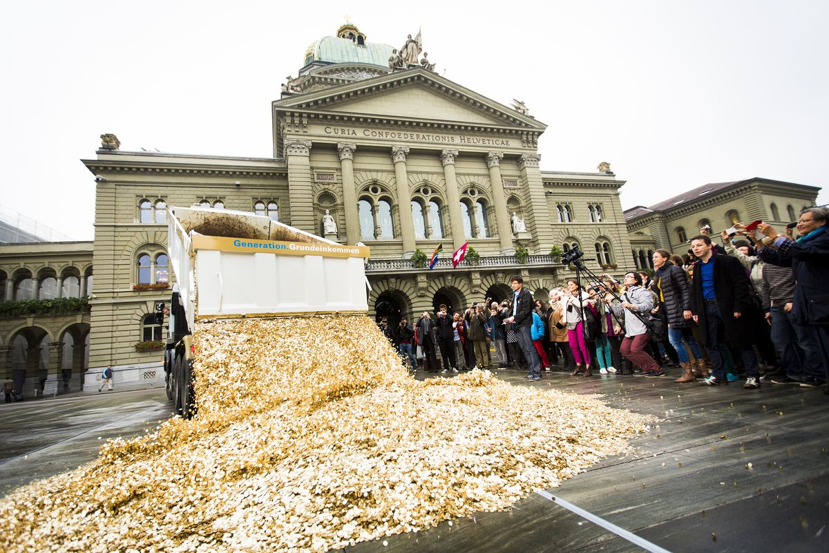 basic income protest