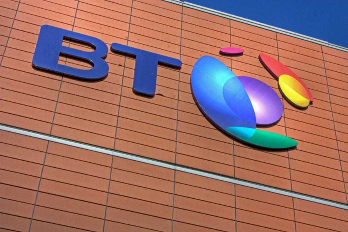 BT Broadband Logo Building