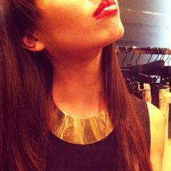 We're loving this Growze gold choker. Very She-Ra.