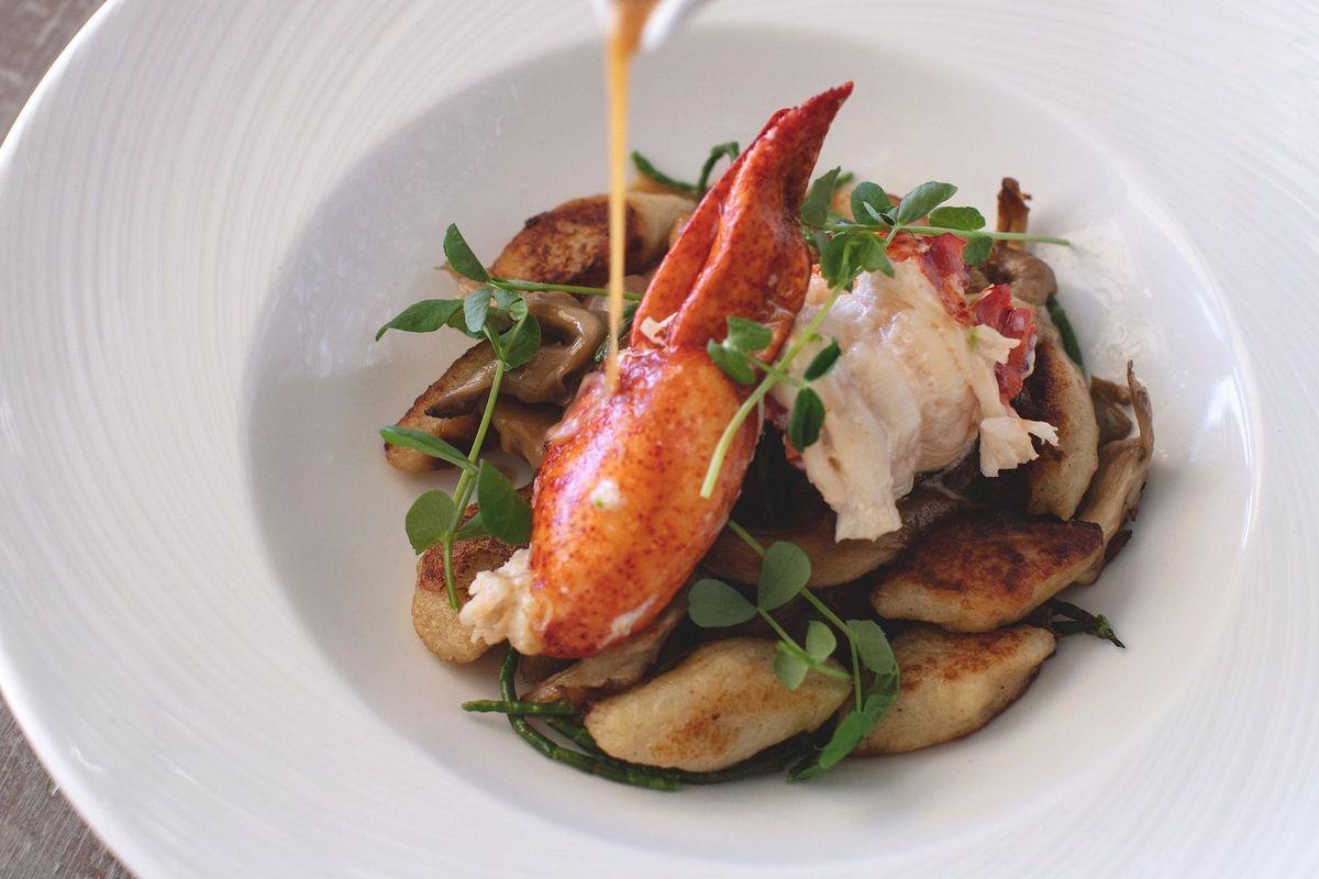 Lobster at the Loren's Bermuda restaurant