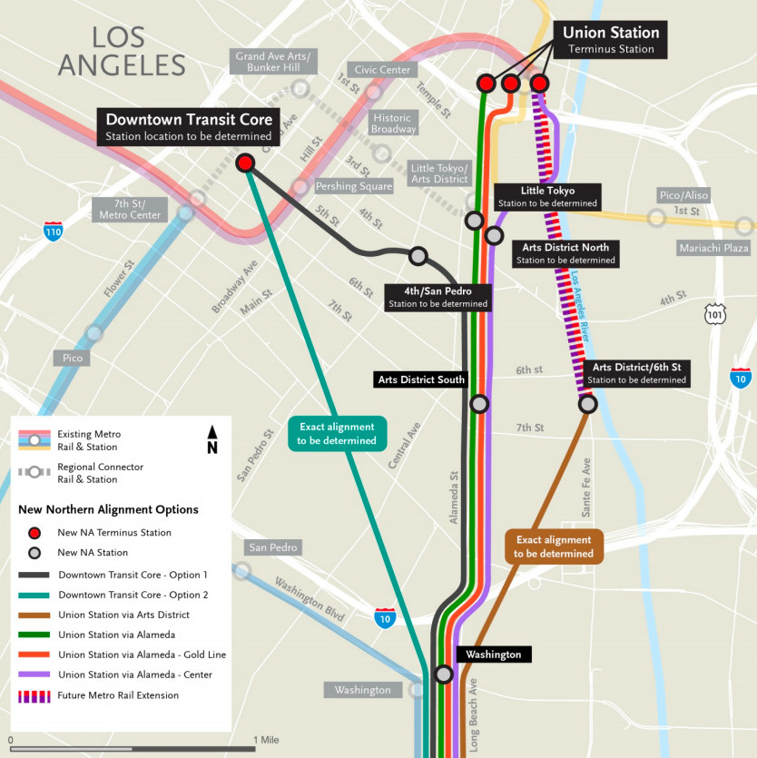 La Metro Map 2018.Where In Downtown Will Metro Put Train Stations For West Santa Ana