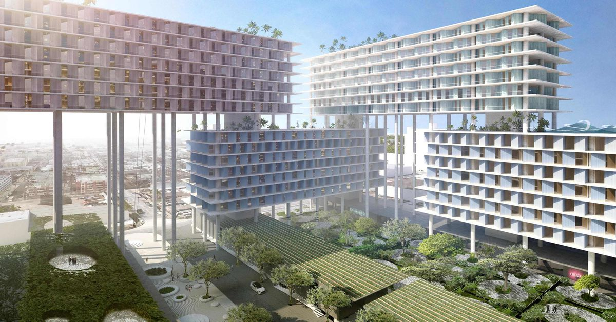 Bjarke Ingels Designs Stilt Supported Megadevelopment For
