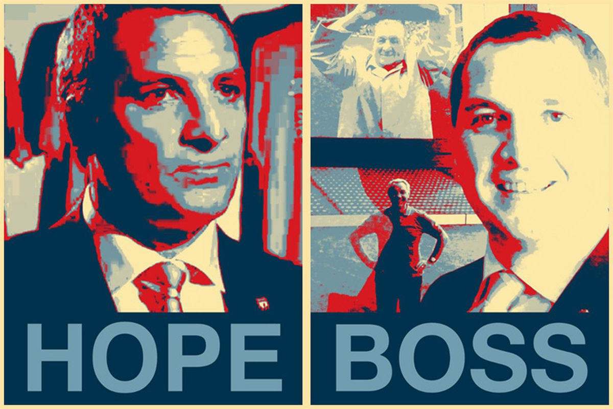 """Brendan Rodgers given the Obama """"Hope"""" treatment by Liverpool FC as part of their latest push for social media domination. Follow them on LinkedIn and maybe they'll stop."""
