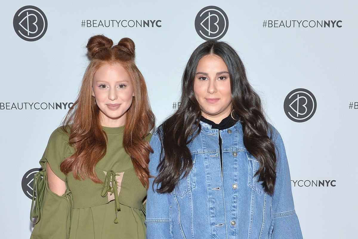 Instagram stars Jackie Oshrey and Claudia Oshry Soffer pictured at Beautycon Festival in May.