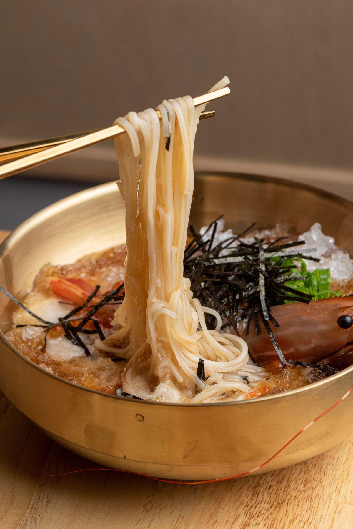 Cold udon noodles at Yakiniku Osen.