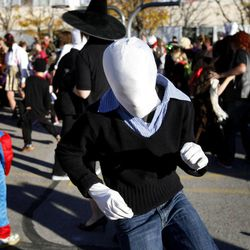 """Sixth- and eighth-graders of The Open Classroom dance to Michael Jackson's song """"Thriller"""" for the school's students and families in Salt Lake City on Wednesday, Oct. 31, 2012."""