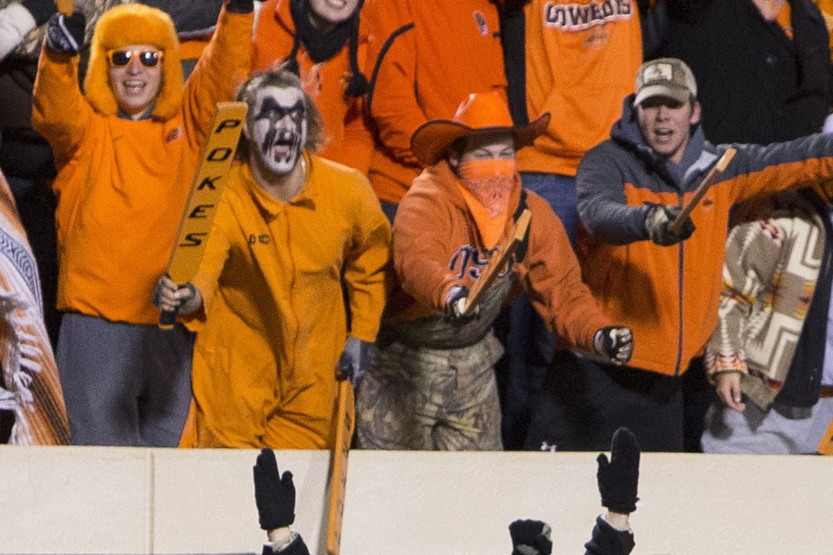 Students at OSU provided an electric atmosphere for Saturday's game against then #4 Baylor.